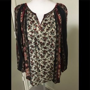 Lucky Brand Fall Floral Top
